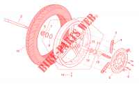 Front wheel for SCARABEO Scarabeo (engine Rotax) 1999
