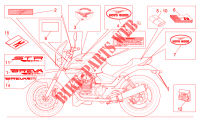 Decal and plate set FRAME 750 moto-guzzi-motorcycles BREVA 2005 11